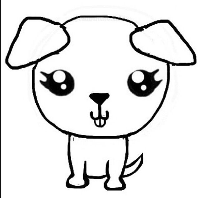 Drawn bulldog chibi I Chibi Pinterest eyes just