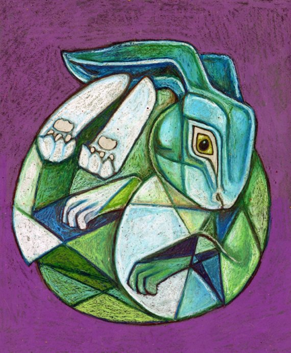 Drawn animal cubist #15