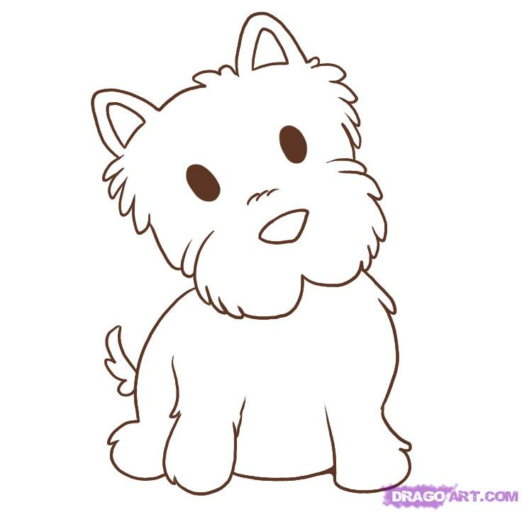 Drawn puppy simple Step Pinterest to draw 5