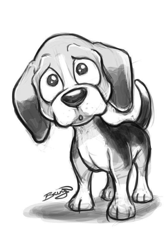 Drawn animl cute puppy Cute Dog Dog ideas Dog