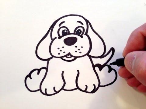 Drawn animl cute puppy How to a Dog YouTube