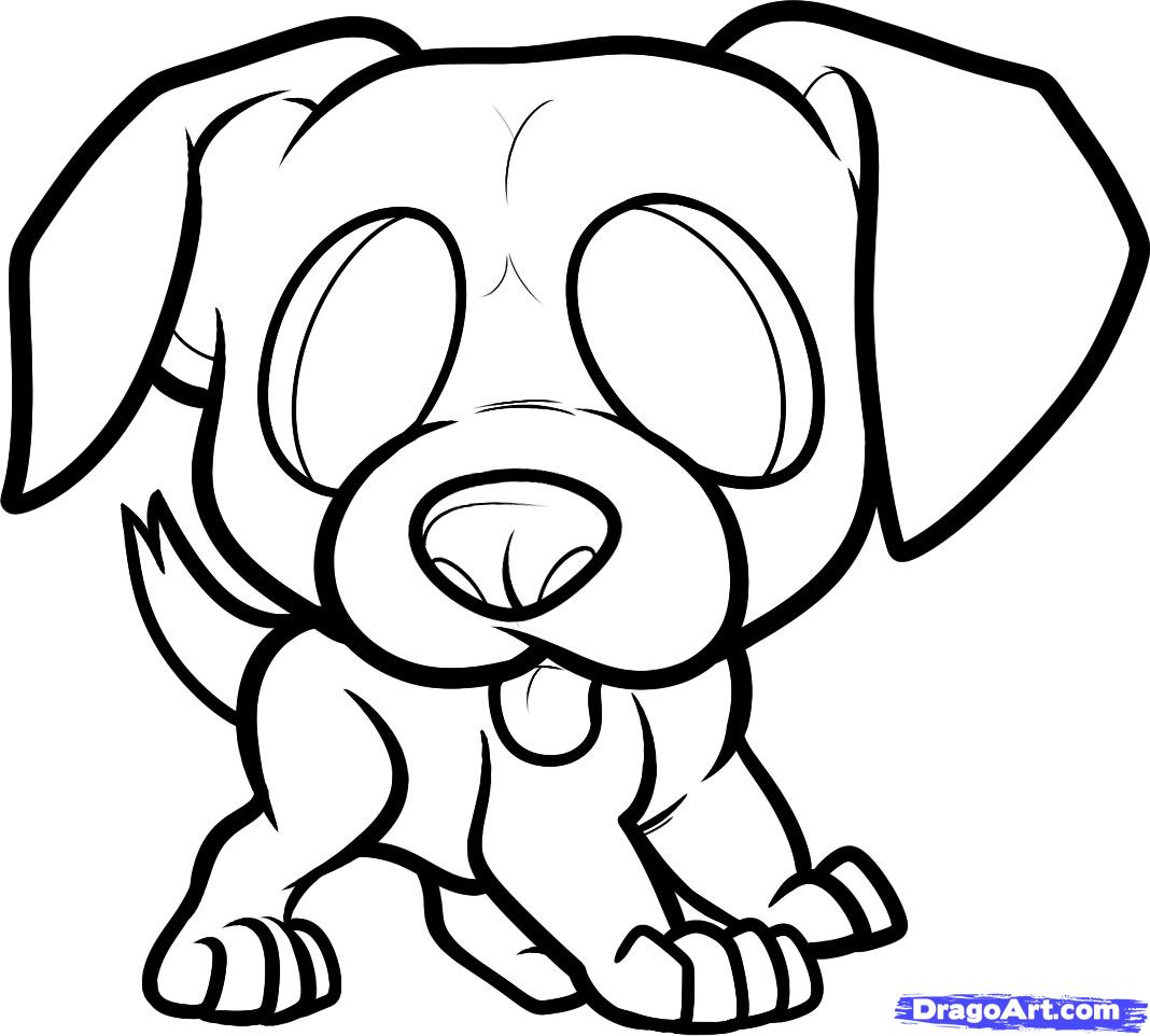 Drawn puppy boxer How Step boxer Draw boxer