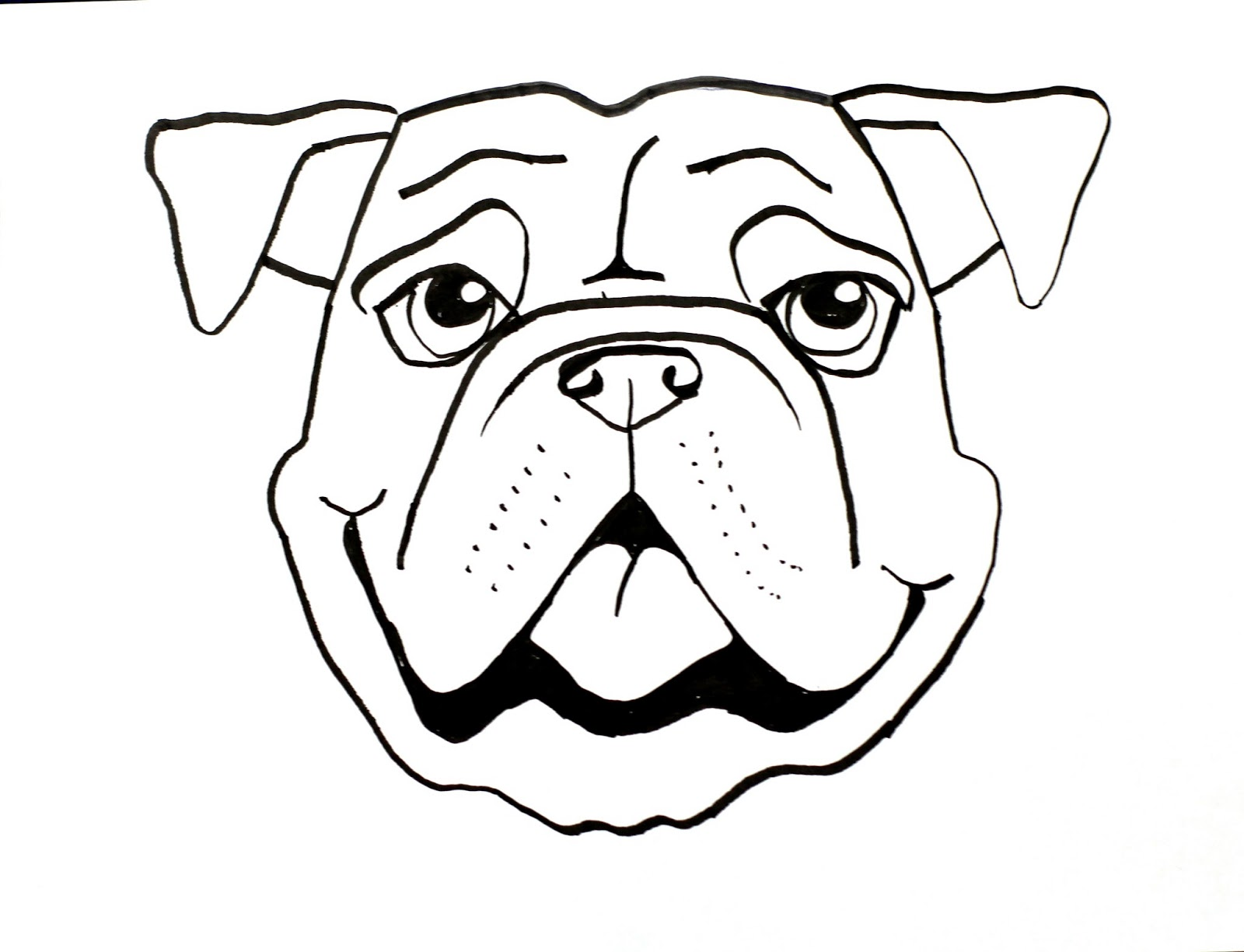 Drawn bulldog easy Long Class: smART Dog Bull