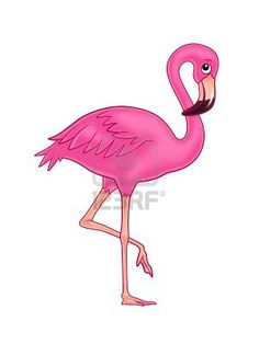 Drawn animal flamingo #15