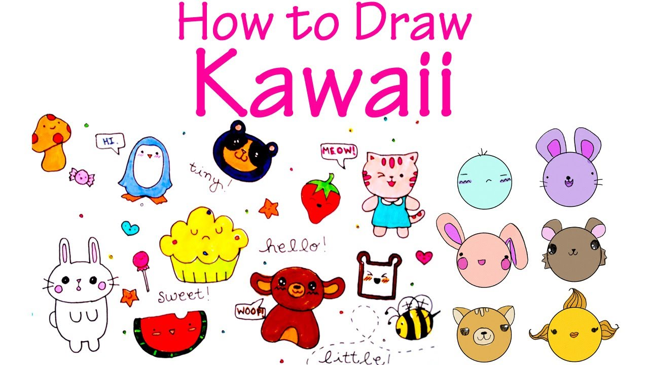 Drawn animl kawaii To Cute Draw Draw Characters