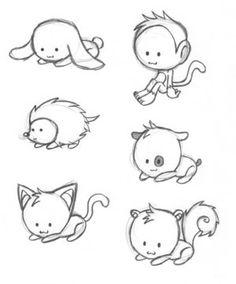 Drawn animl kawaii  Cute Kawaii+animal+drawing Chibi Kawaii+animal+drawing