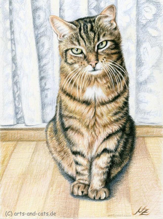 Drawn animal kitten #14