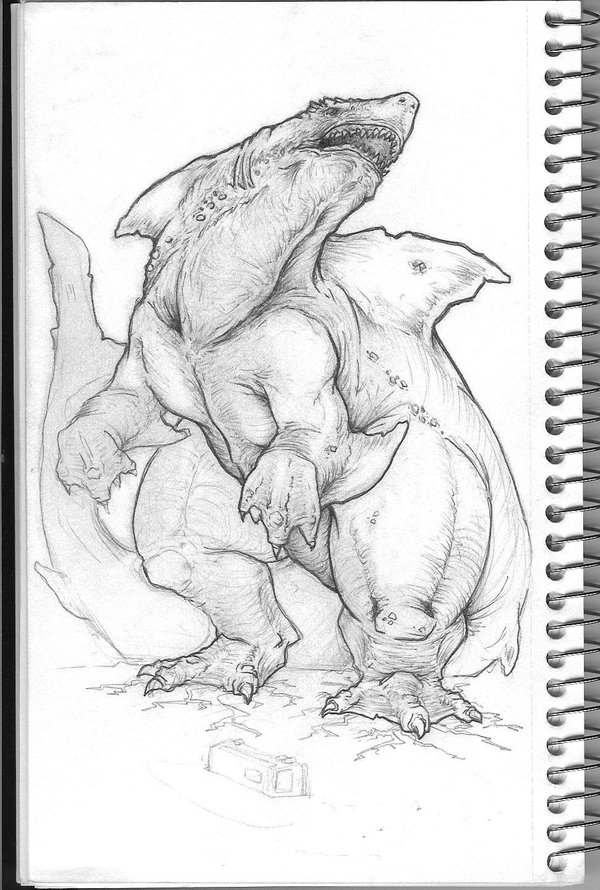 Drawn shark vintage By KillustrationStudios Giant Shark Shark