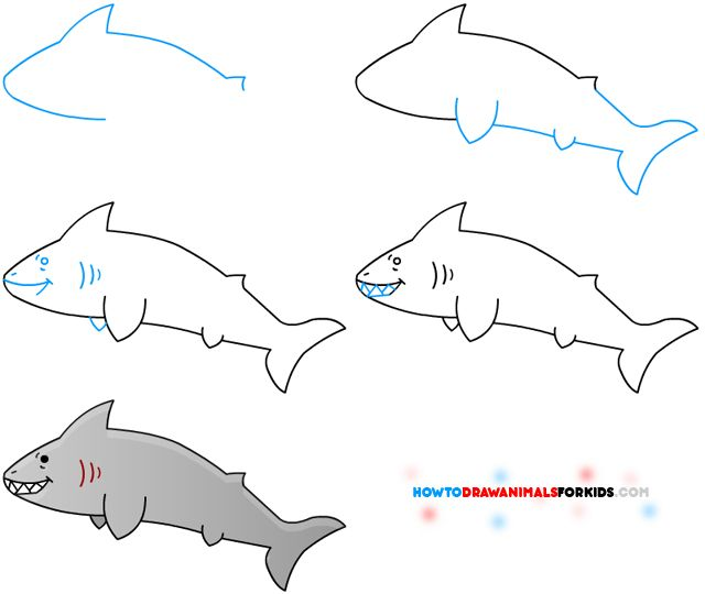 Drawn shark vintage A Pinterest Shark Kids How