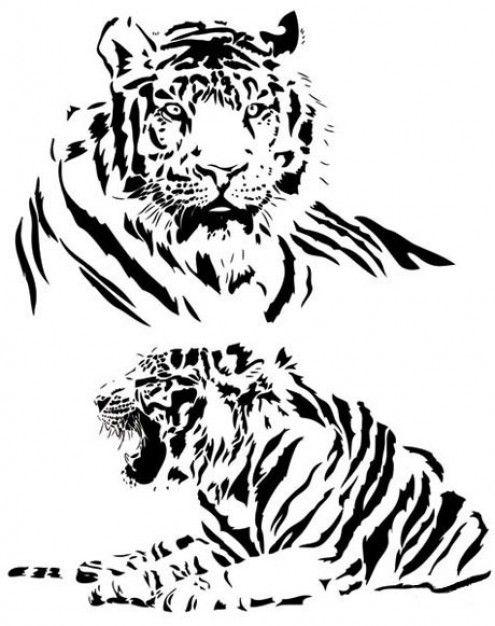 Drawn animal white tiger #13