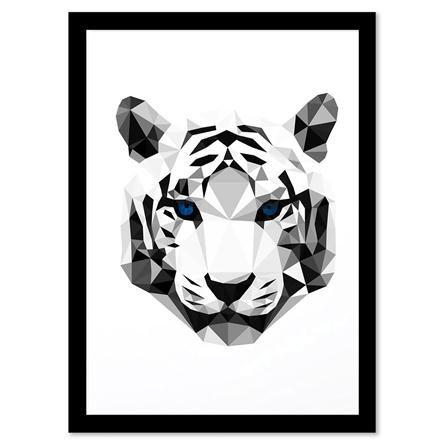 Drawn animal white tiger #9
