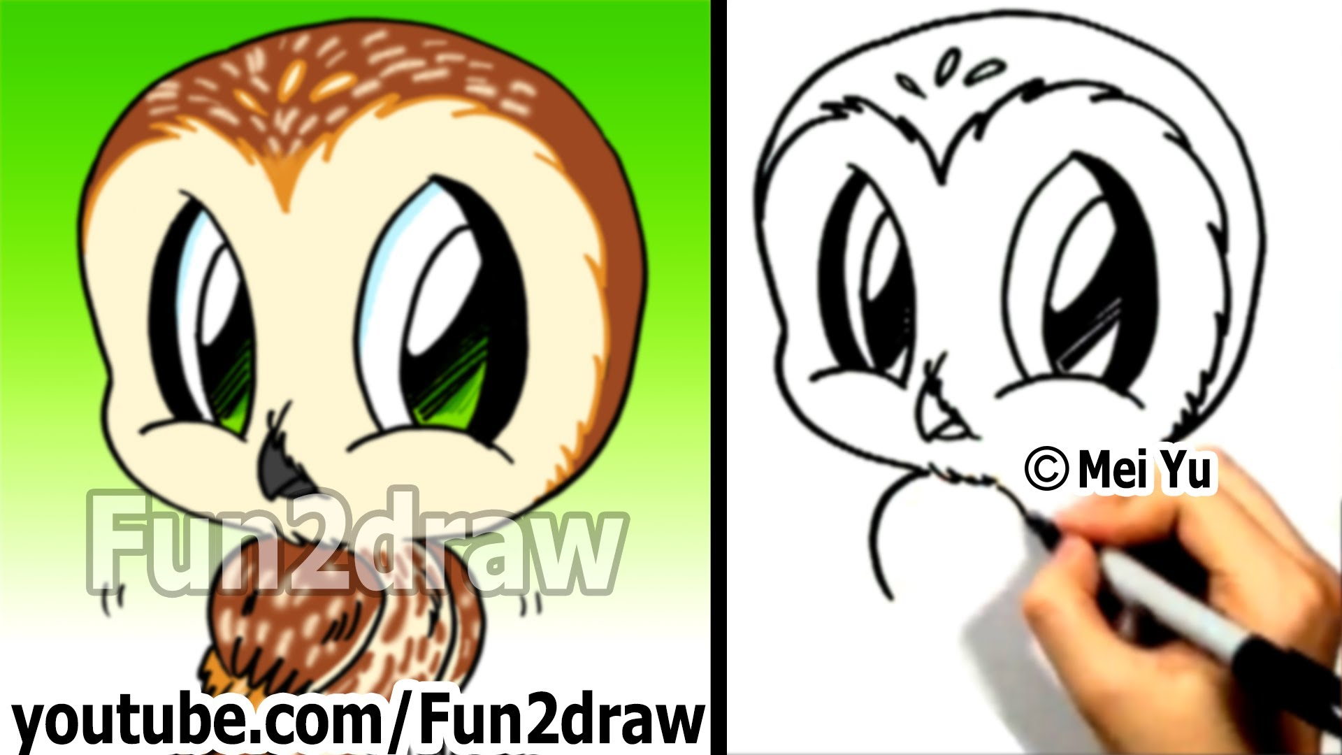 Drawn owl cartoon #2