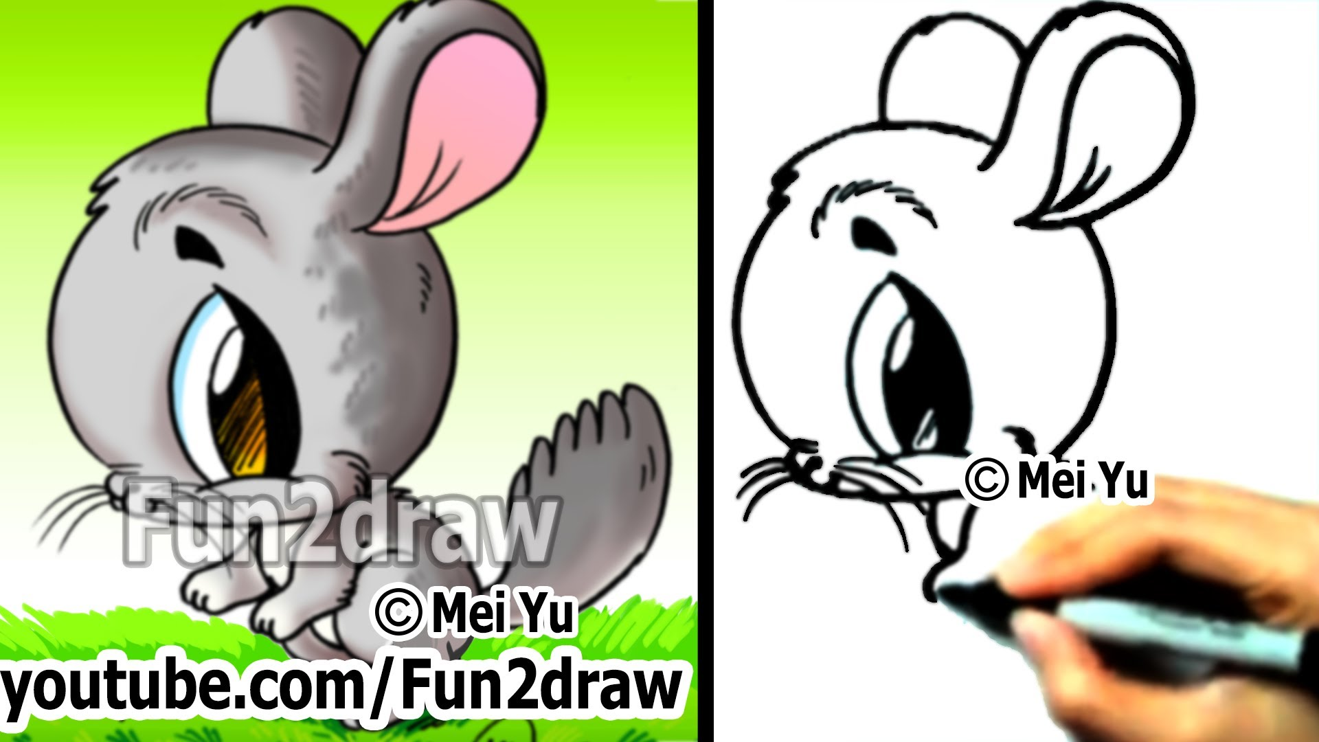 Drawn rabbit youtube easy cartoon Draw Draw to Things Easy