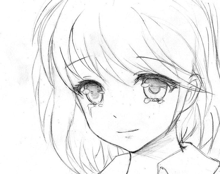 Drawn anime Draw crying how girl draw