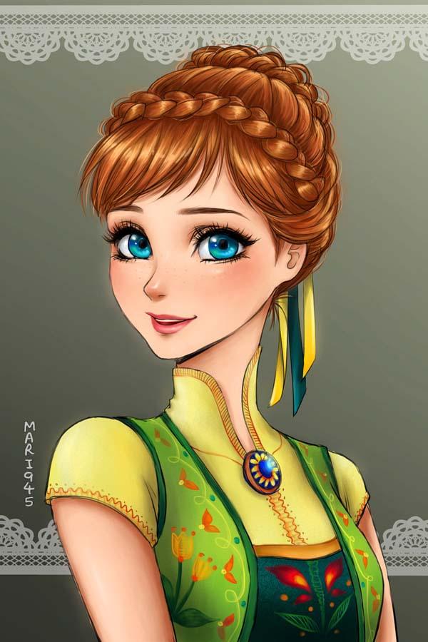 Drawn anime disney princess Disney Artist's Disney Amazing Drawn