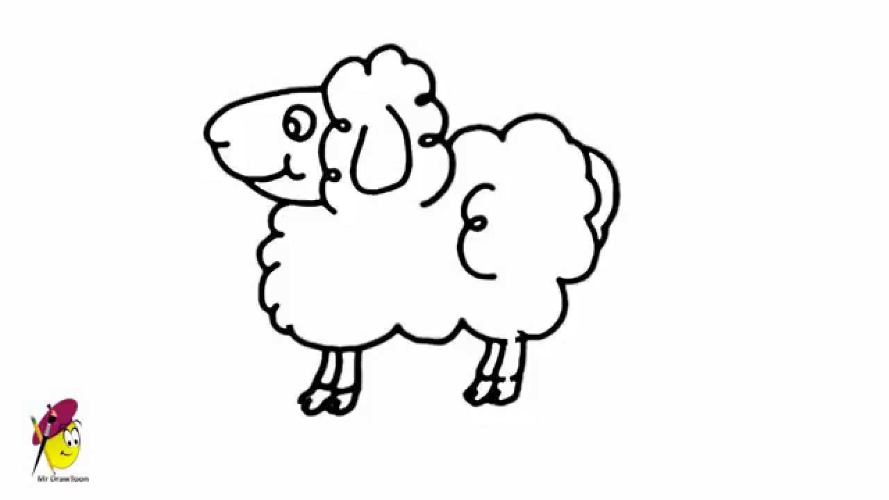 Drawn sheep abstract How Drawing a Drawing Animals