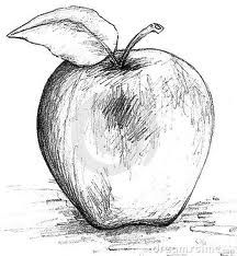 Drawn apple #6