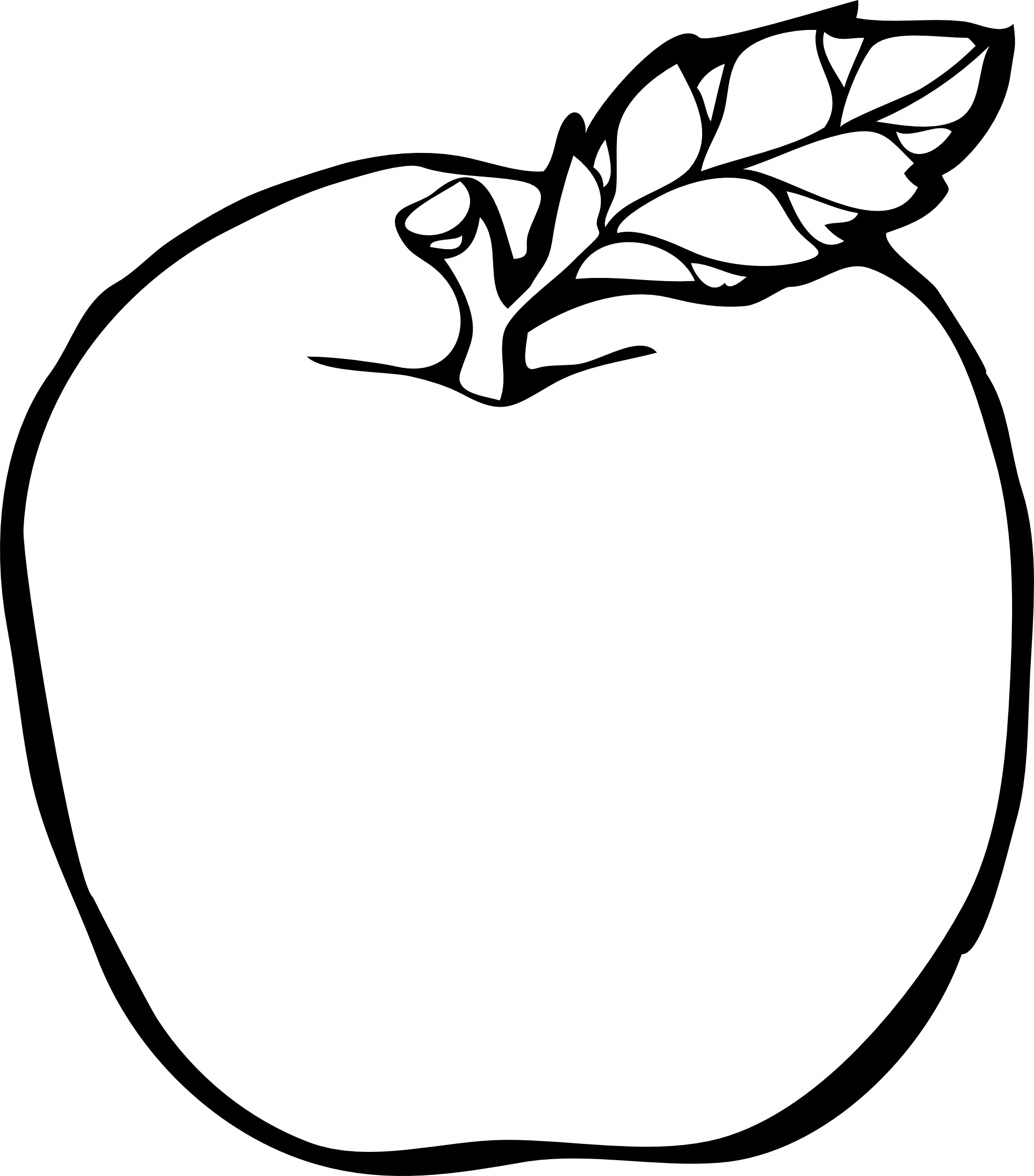 Drawn apple #9