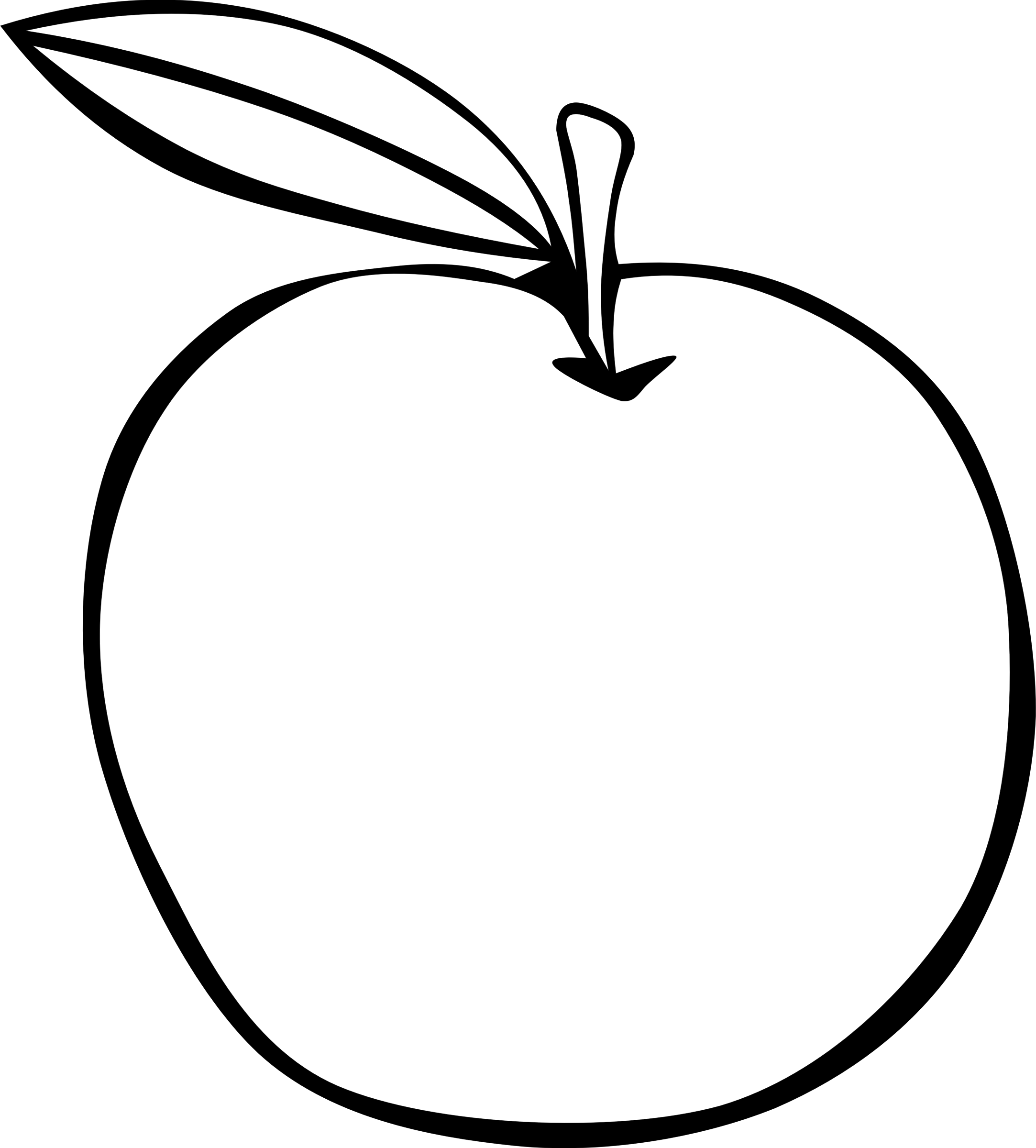 Drawn apple #8