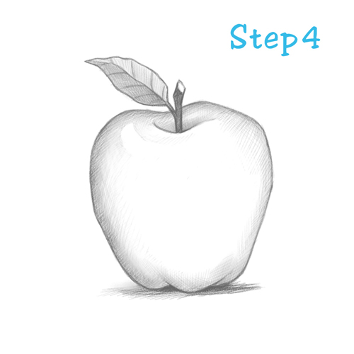 Drawn apple #4