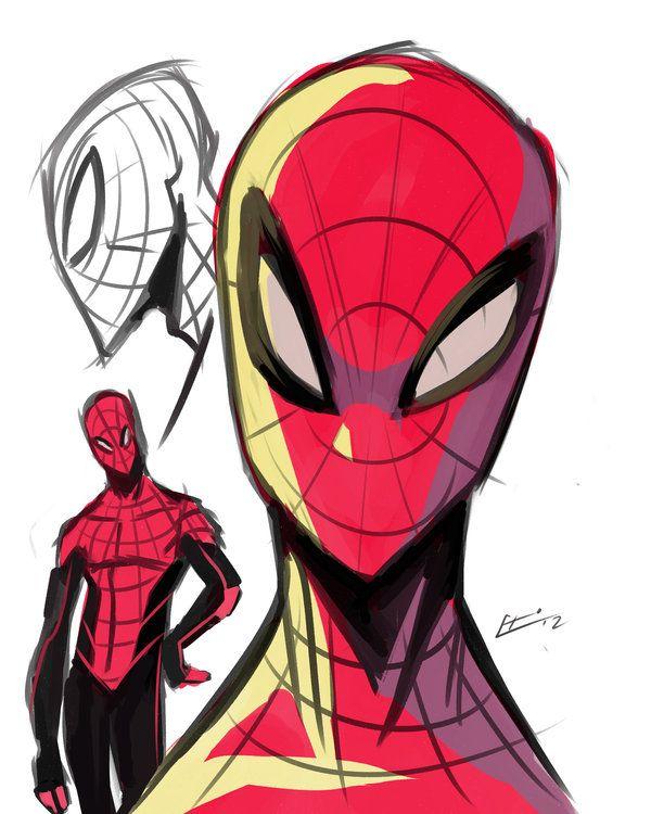 Drawn spider-man marvel character #15