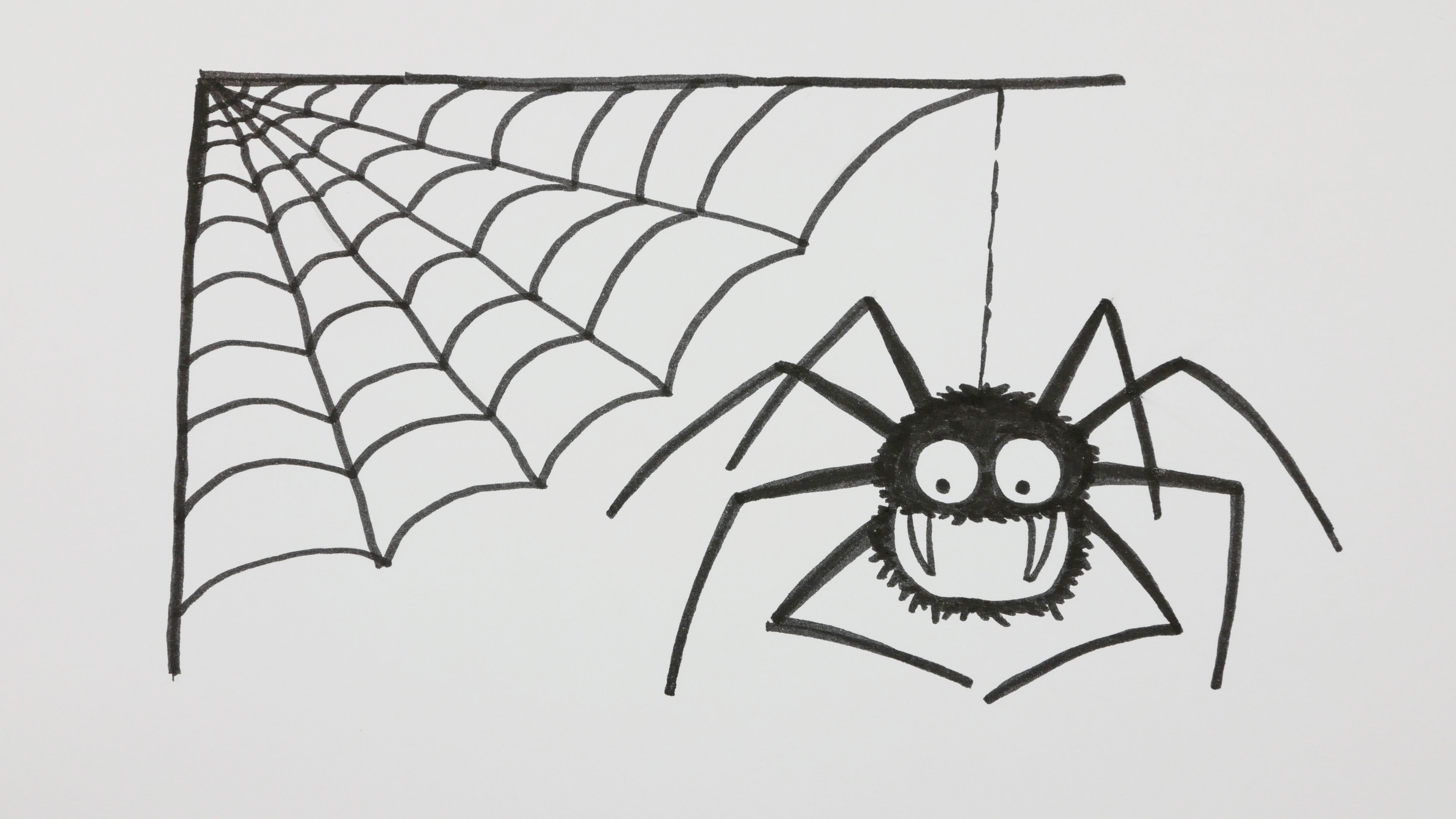 Drawn spider web real To with Cartoon Doodle How
