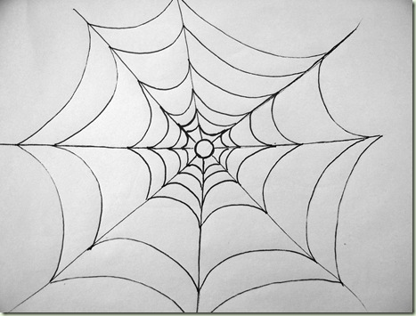 Drawn spider web cartoon Simple SpiderWeb Blog Paint It