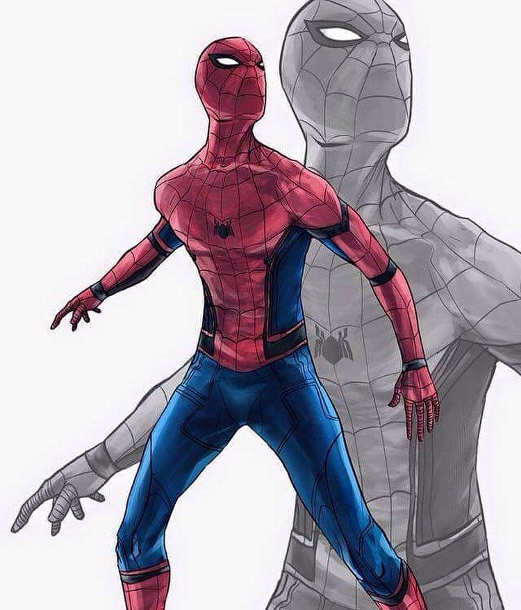 Drawn wars civil war Man Marvel Spider Civil Suit