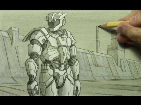 Drawn warrior cartoon Armor: Illustration  YouTube Techniques