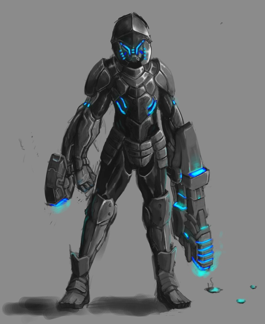 Drawn armor future anime Suit armor powered  Search