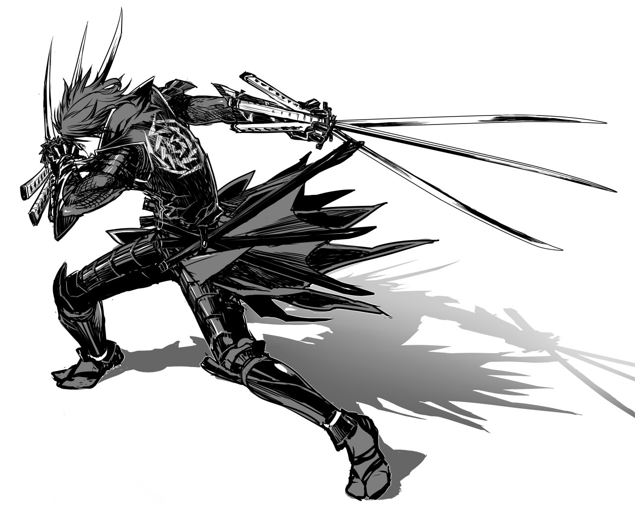 Drawn armor male anime Masamune White And Background Anime