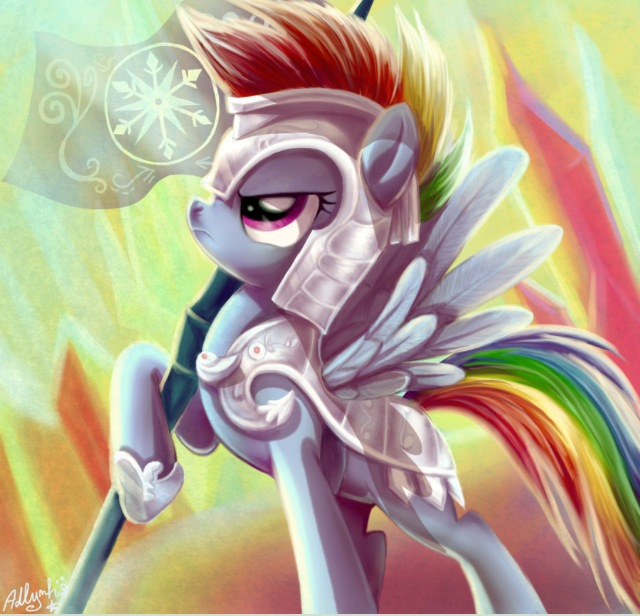 Drawn armor rainbow #9