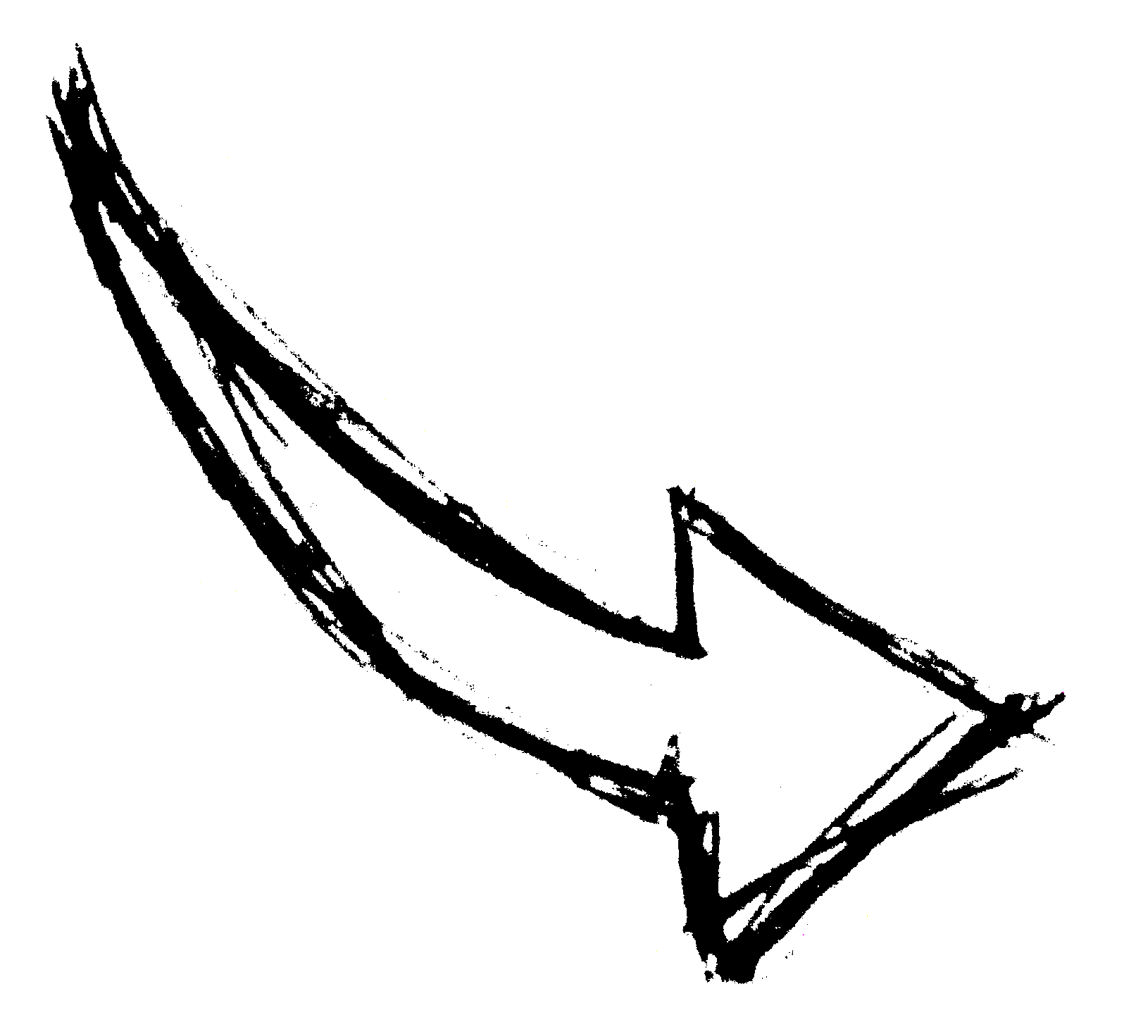 Drawn arrow pen Hand com 1 PNG Transparent