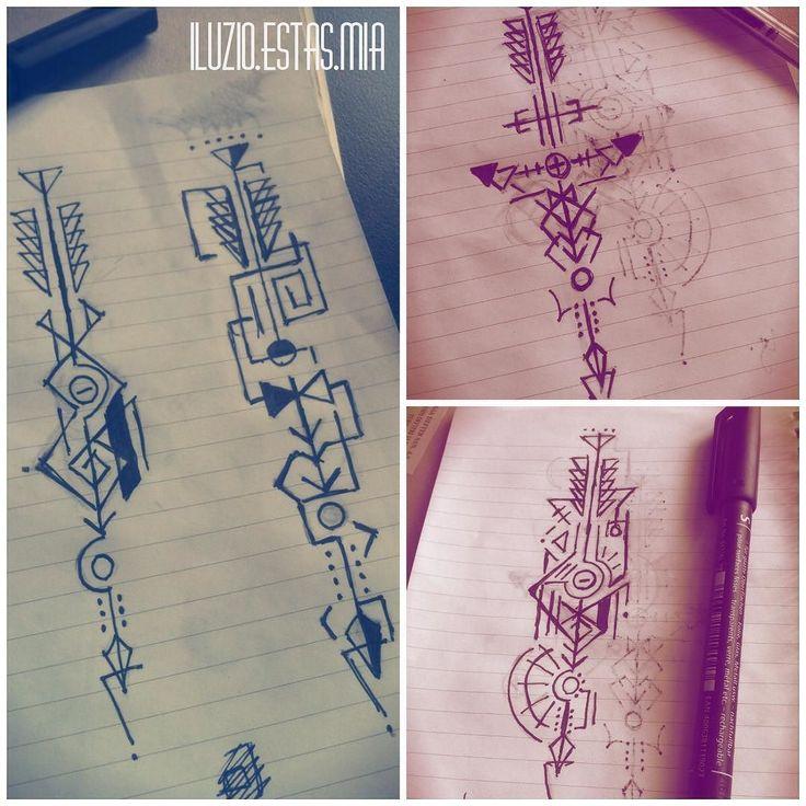 Drawn arrow artsy #sketching #sketch The #sketchbook on