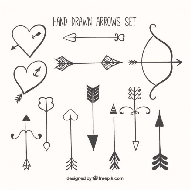 Drawn arrow artsy Drawn Hand collection arrow