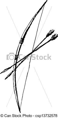 Drawn arrow bow Ancient Arrow Drawing arrow Vector