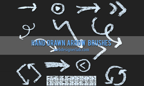 Drawn arrow brush stroke #12