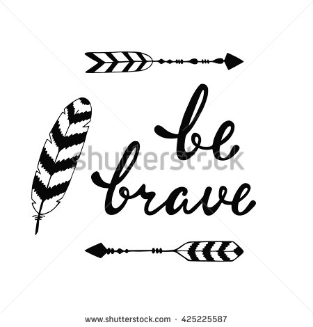 Drawn arrow calligraphy Quote  phrase Be and