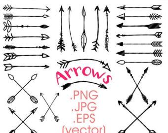 Drawn arrow calligraphy Doodle arrows tribal drawn Year
