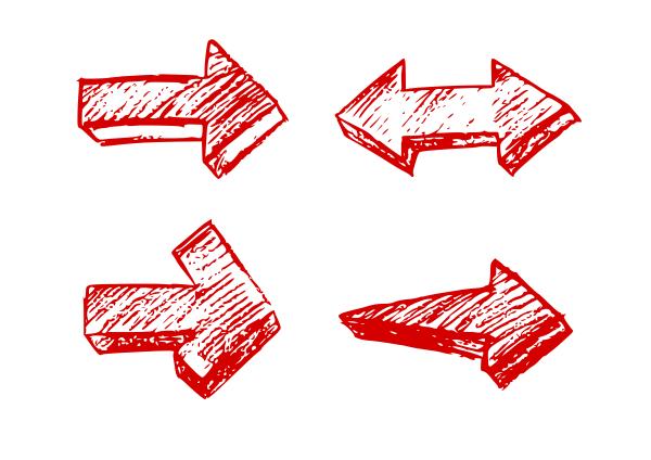 Drawn arrow crayon Vector OnlyGFX Transparent) Vector Arrows