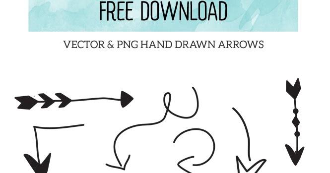 Drawn arrow curly #3