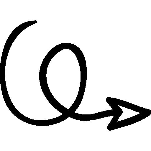 Drawn arrow curly #2