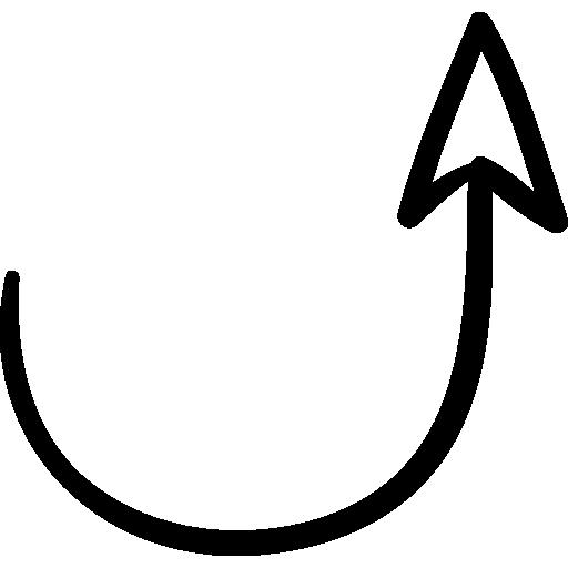 Drawn arrow curly #4