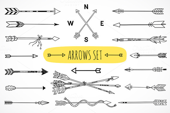 Drawn arrow cute #7
