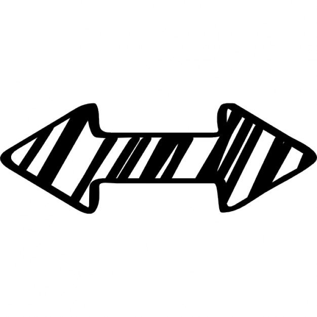Drawn arrow double Sketched and Free arrow Icons
