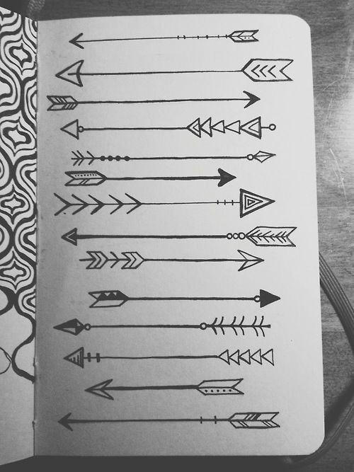 Drawn arrow easy Pinterest ideas Arrow tattoo on
