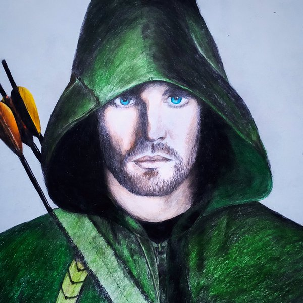 Drawn arrow green Colored #drawing #стрела Androshchuk with