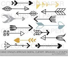 Drawn arrow han Hand Instant Drawn Arrows Download