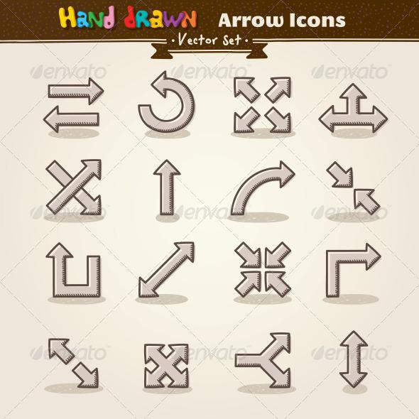 Drawn arrow han Vector Draw Hand Draw Arrow