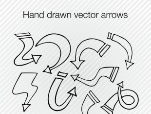 Drawn arrow handmade (SVG) arrows Download Drawn thumb